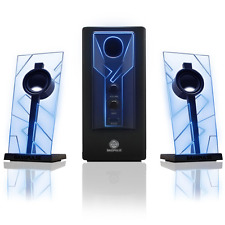 Glowing Computer Speakers Desktop Surround Sound Audio System BASS Subwoofer