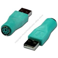 PS2 6pin Mini DIN Female/F Jack~USB A Male/M Plug Mouse cable/port Adapter{GREEN