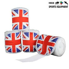 HKM Union Jack UK Flag Polar Fleece Bandages (4 Pack)