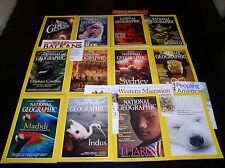 12 NATIONAL GEOGRAPHIC MAGAZINE COMPLETE SET 2000 ~ INCLUDES ALL SUPPLEMENTS