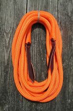 "Rose Lodge 22' x 1/2"" ORANGE Yacht Rope Mecate Reins 4 Bosal or Slobber Straps"