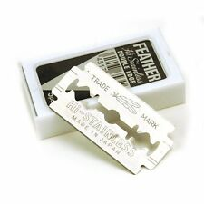 UK Seller - 10 x Japanese Feather Hi-Stainless Double Edge Platinum Razor Blades