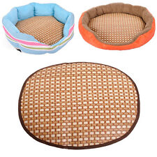 2017 Cool Round Pet Cat Dog Straw Bamboo Mat Specially Pet Supply Pads Sale#