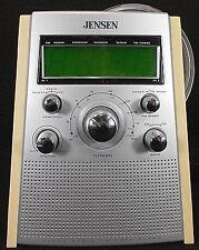 Jensen AM/FM Alarm Clock Radio CD Player Dual Alarm JCR-560