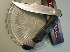 "Timber Rattler Giant Scarab Folding Lockback Bowie Pocket Knife 18"" TR99 Pakka"