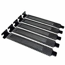 5pcs NEW PCI Slot Cover Dust Filter Blanking Plate Hard Steel Black w/screws