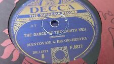 MANTOVANI THE DANCE OF THE EIGHTH VEIL & THE RED SOMBERO DECCA F8877