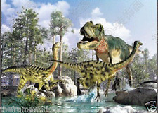 JURASSIC WORLD DINOSAURS - 3D LENTICULAR FLIP PICTURE POSTER 400mm X 300mm (NEW)