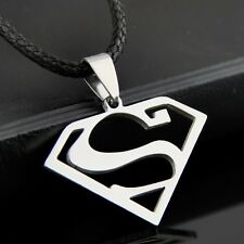 cool man boy Stainless Steel Superman logo Pendants Necklace ST83