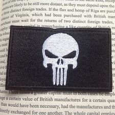 PUNISHER SKULL SWAT OPS ARMY MILITARY TACTICAL VELCRO MORALE PATCH BLACK