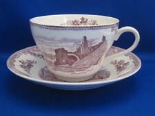Johnson Brothers OLD BRITAIN CASTLES Oversized Cup & Saucer Lavender Purple RARE