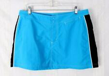 LL Bean 14 L size New Skirt Turquoise Blue Black Nylon Beach Summer Outdoor Surf