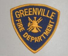 "Greenville Fire Dept Patch  - vintage - 3 1/4"" x 3 1/4"""