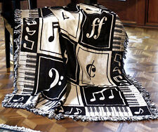 THROWS - MUSIC LESSONS THROW - KEYBOARD - MUSICAL NOTES