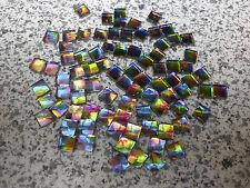 Swarovski vintage 24 carrés idéal à coller vitrail 6x6mm
