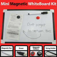 A4 Mini Notice White Board Kitchen Memo Fridge Dry Home Pen Eraser Whiteboard