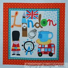 BonEful Fabric Cotton Quilt Block Square London England British UK Flag Soldier