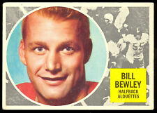1960 TOPPS CFL FOOTBALL 49 BILL BEWLEY MONTREAL ALOUETTES TORONTO VARSITY BLUES