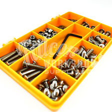 180 ASSORTED PIECE, A2 M4 SOCKET BUTTON HEAD NYLOC FULL NUTS FORM A WASHERS KIT