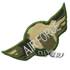 White Letter Camouflage ARMY MILITARY Sew on  Iron on Applique Patch Badge Green