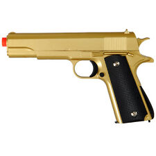 310 FPS G13G GOLD METAL GUN MILITARY M1911 SPRING AIRSOFT PISTOL w/ 6mm BB BBs