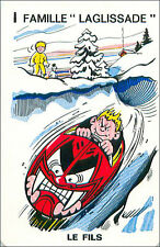 Bobsleigh Bobsled SPORT PLAYING CARD CARTE À JOUER HUMOR HUMOUR 60s