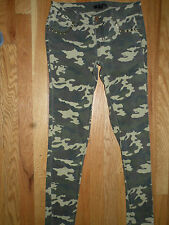 Fire Los Angeles camouflage skinny stretch jeans size 3 low rise 29 inseam studs