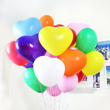 30 MIX LOVE HEART BALLOONS Wedding Party Romantic Shape Valentines baloons