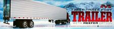 Moebius Great Dane 53 foot Trailer W/ Reefer Option model kit 1/25
