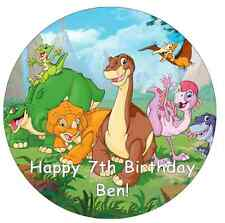 "Dinosauri Personalizzati CAKE TOPPER 7,5 ""wafer commestibile carta terreni prima del tempo"