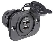 Double USB Socket 12 / 24 Volt Boat Caravan Motorhome Phone Tablet Charger  USB3