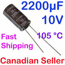 2pcs 2200uF 10V 10x20mm Nippon KMG For PC LCD LED TFT PS TV AUDIO VIDEO STEREO