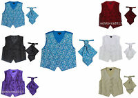 Boys Suits 2 Piece Waistcoat Suit Wedding Page Boy Baby Formal Party Cravat 0-14