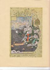 Haft Aurang of Jami:Two Lovers Landing on the Island REPRODUCTION PRINT Art