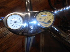 Stewart Warner bicycle Speedometer & clock console dashboard FITS ANY CRUISER