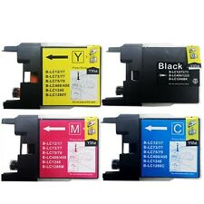 4 NEW LC71 BK C M Y Ink Cartridges for Brother MFC-J835DW + More Printers