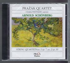 PRAZAK QUARTET CD NEW SCHONBERG STRING QUARTETS 1 & 2 (PRAGA)
