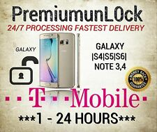 T-Mobile Samsung  Galaxy S4 S5 S6 Note 3 Note 4 Mega Light SGH-T399 Unlock Code