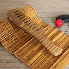 Vintage Wooden Natural Sandalwood Handmade Wide Tooth Massage Comb Hair Care