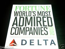 DELTA AIR LINES - FORTUNE WORLDS MOST ADMIRED COMPANIES 2013 - MAGNET