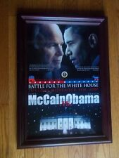 Battle for White House Picture 11-2008 Obama vs McCain 14 1/2 x 20 1/2 Political