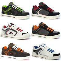MENS SKATE SHOES BOYS BASEBALL CASUAL LACE UP FASHION SKATER TRAINERS SIZE DD06