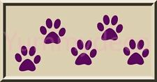 30 - 2 inch Dog Cat paw print vinyl wall decal sticker