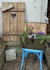 Fensterladen XXL Herz mit Schild  Holz Dekoration Garten Rankhilfe Aufsteller