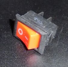 2 Pin On-Off Red Boat Rocker Switch 6A/250V Interrupteur Rouge