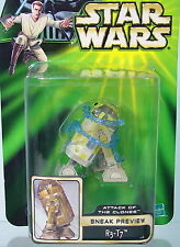 R3-T7 Droid~ AOTC Sneak Preview~ ~Star Wars Power of the Jedi~ 2002~ POTJ~ MOC~