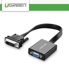 UGreen 24+1 pin DVI-D Male to 15 pin VGA Female Active Adapter Converter Cable