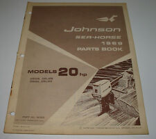 Parts Book Ersatzteilkatalog Johnson Sea Horse Model 20 HP Stand 1969!