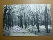 Lot019p c1905 PARIS - Le Bois de BOULOGNE in the WINTER & Snow POSTACRD FRANCE