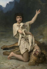 The Shepherd David William ADOLPHE BOUGUEREAU PASTORE AGNELLO giovane B a3 03456